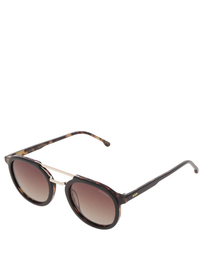 Černé dámské sluneční brýle Komono Crafted Gilles