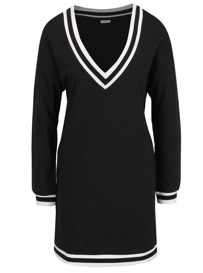 Černé mikinové šaty Jacqueline de Yong Dusty