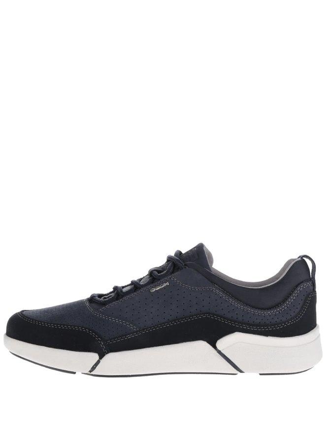 Pantofi sport albastru închis Geox Ailand cu detalii din piele întoarsă