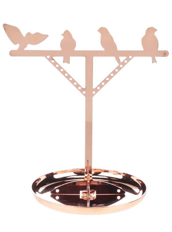 Stojan na šperky v bronzové barvě s ptáčky Kikkerland Bird