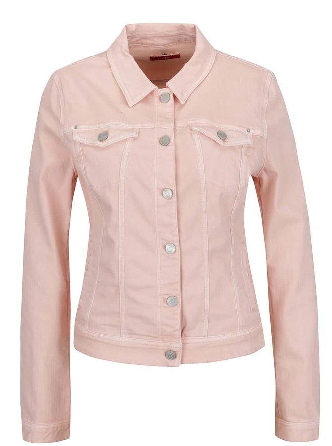 Růžová dámská džínová bunda s.Oliver
