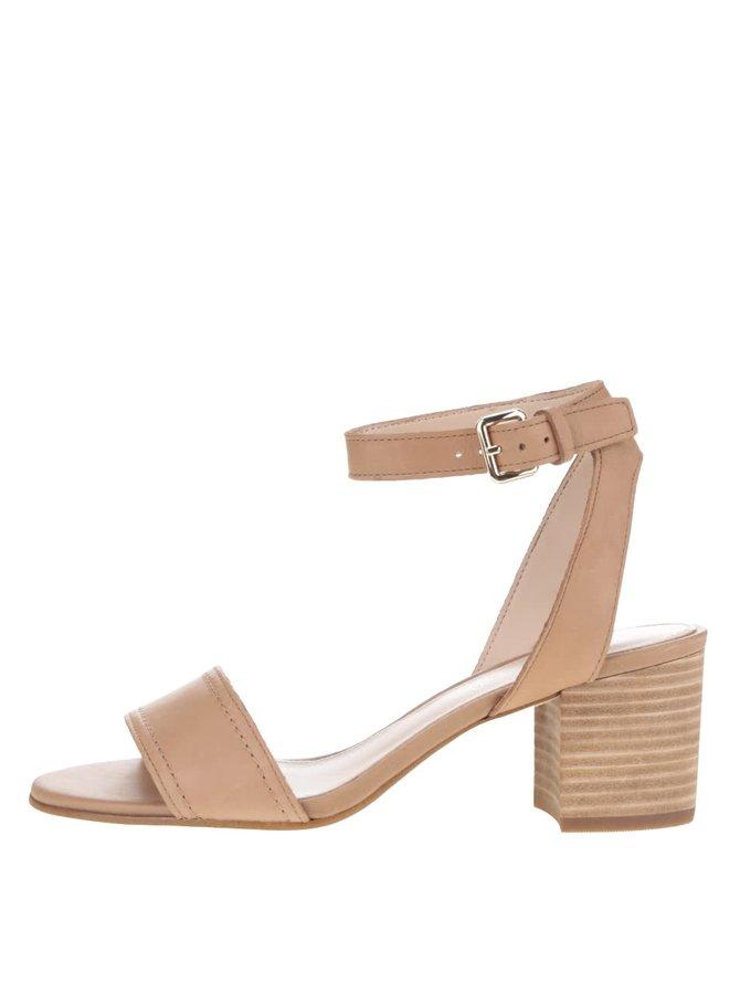 Hnědé dámské kožené sandálky ALDO Lolla