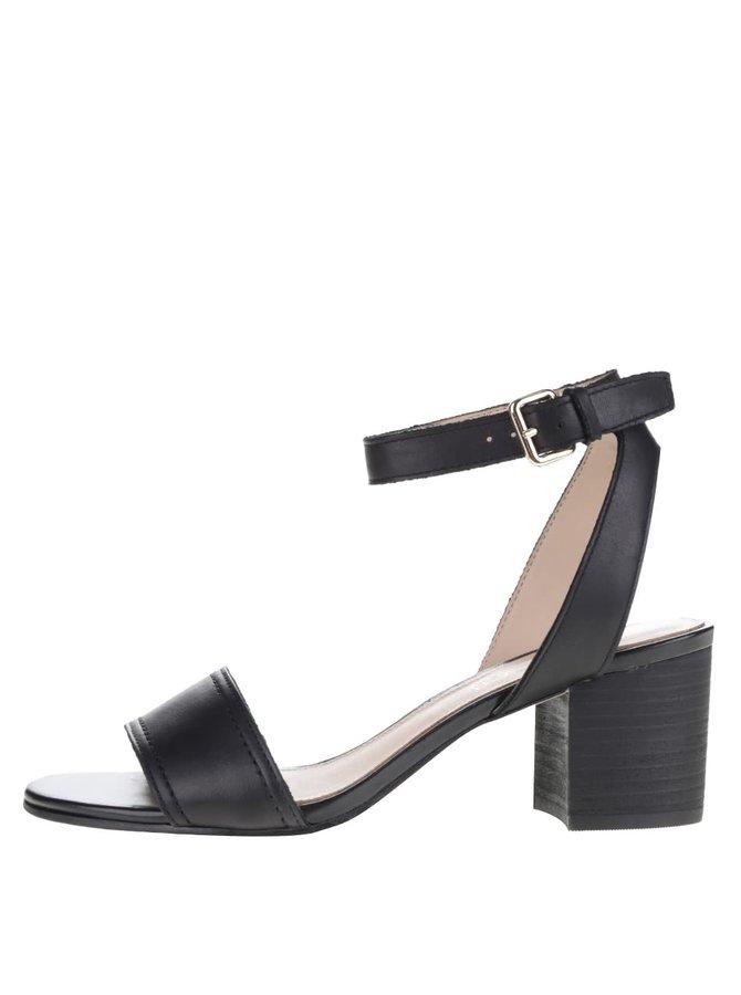 Sandale negre ALDO Lolla cu toc solid