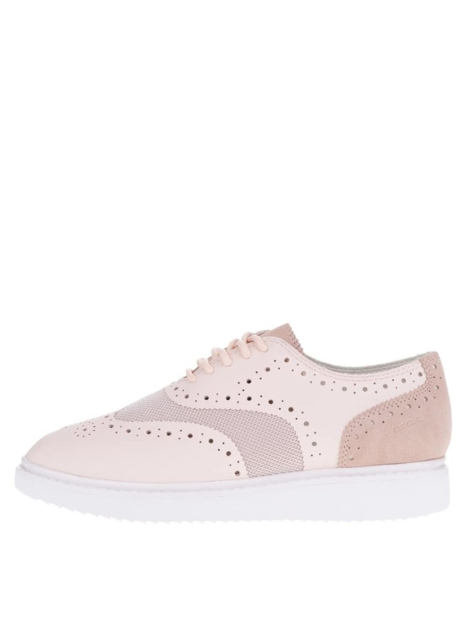 Pantofi sport roz deschis cu perforații Geox Thymar B