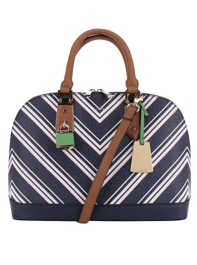 Krémovo-modrá kabelka s pruhy ALDO Yilari