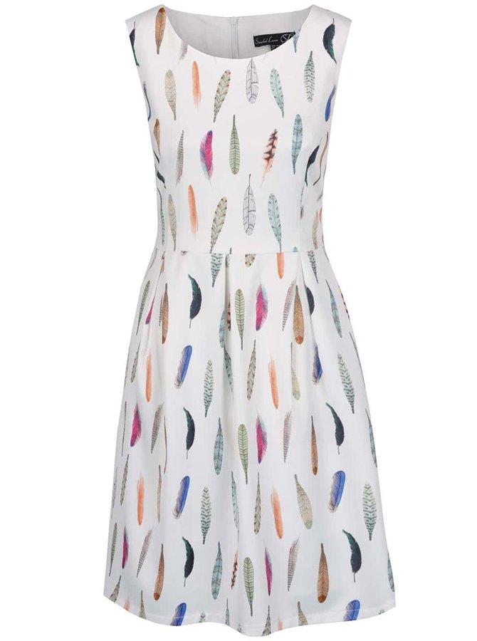 Bílé šaty s potiskem pírek Smashed Lemon