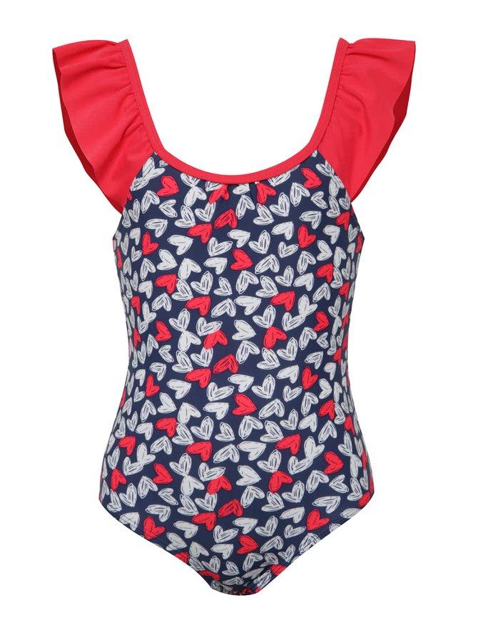 Červeno-modré holčičí plavky se srdíčky 5.10.15.