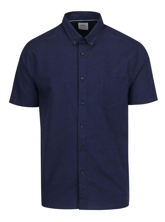 Cămașă albastră Burton Menswear London din bumbac cu mâneci scurte
