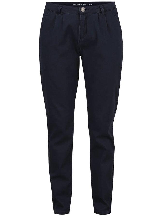Tmavě modré chino kalhoty Jacqueline de Yong Marika