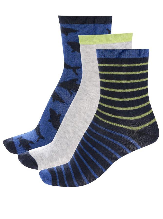 Set trei perechi de șosete albastru&gri 5.10.15 pentru băieți
