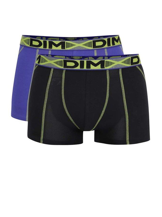 Sada dvou boxerek ve fialové a černé barvě DIM