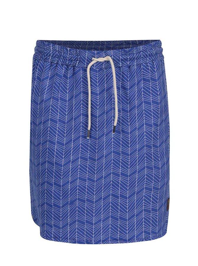 Modrá vzorovaná sukně Tranquillo Hansine