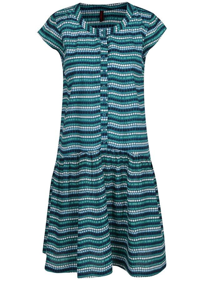 Tyrkysové vzorované šaty Tranquillo Alva