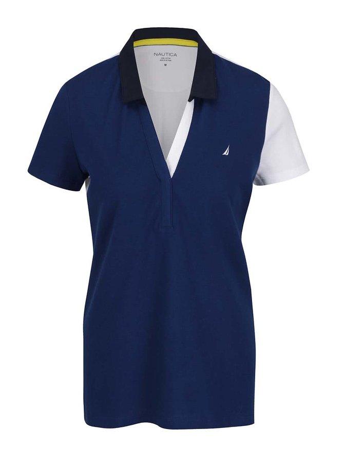 Bílo-modré dámské polo tričko Nautica