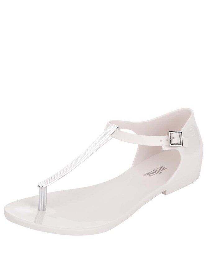 Sandale crem Melissa Honey Chrome cu detaliu metalic