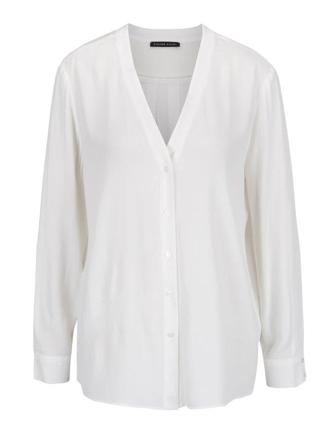 Bluză albă Pietro Filipi cu nasturi sidefați