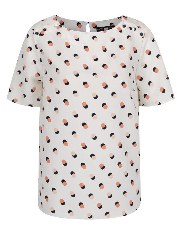 Krémový volný top s puntíky Dorothy Perkins