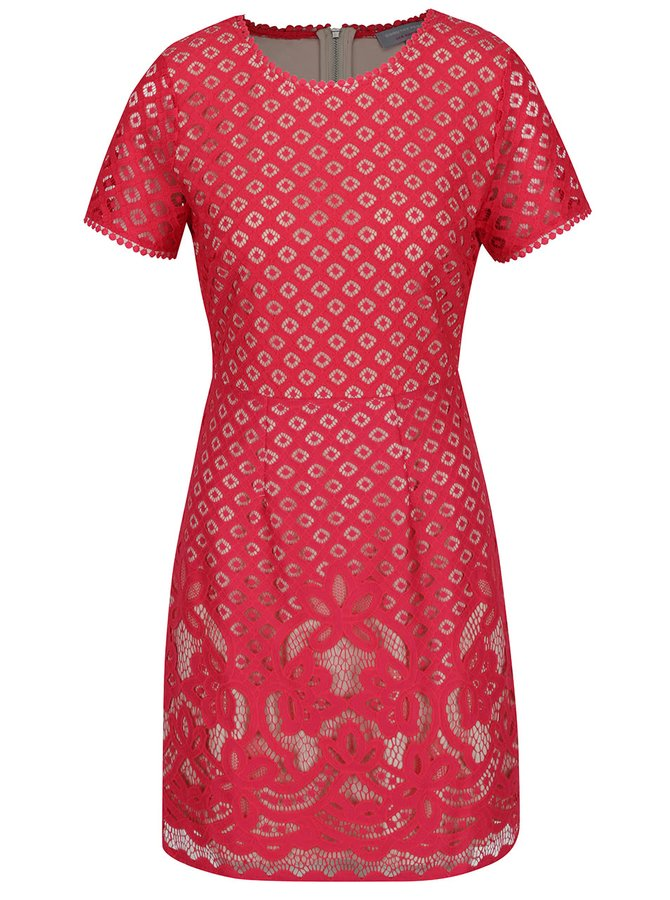 Růžové krajkové šaty Dorothy Perkins Petite