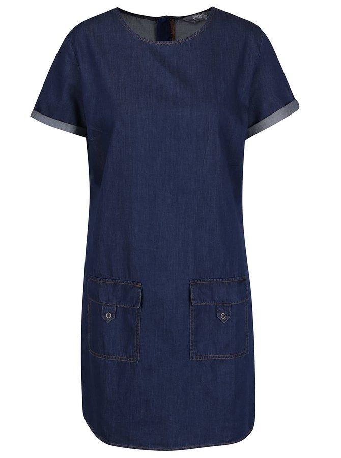 Modré džínové šaty s kapsami Dorothy Perkins