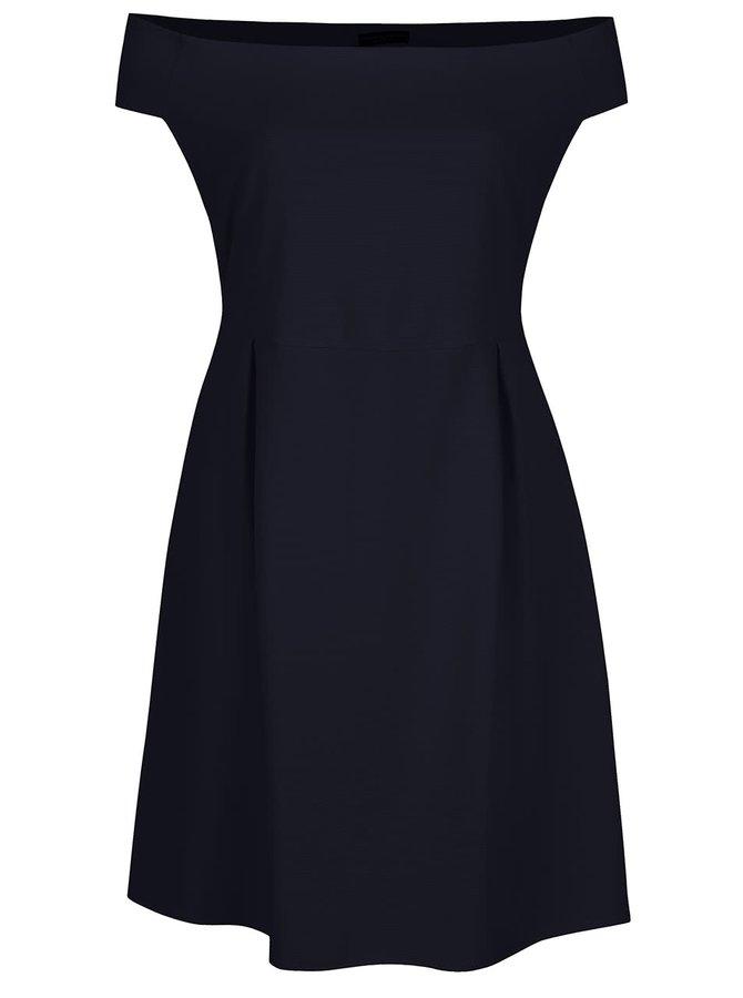 Tmavě modré šaty s odhalenými rameny Dorothy Perkins Curve