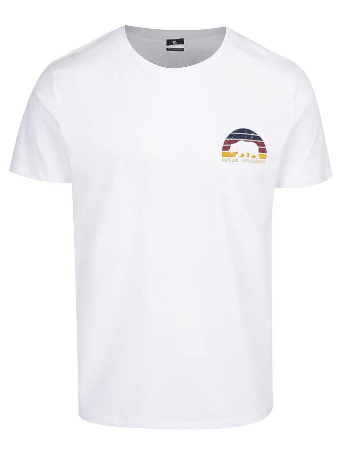 Bílé pánské triko s potiskem Rip Curl Cali Bear