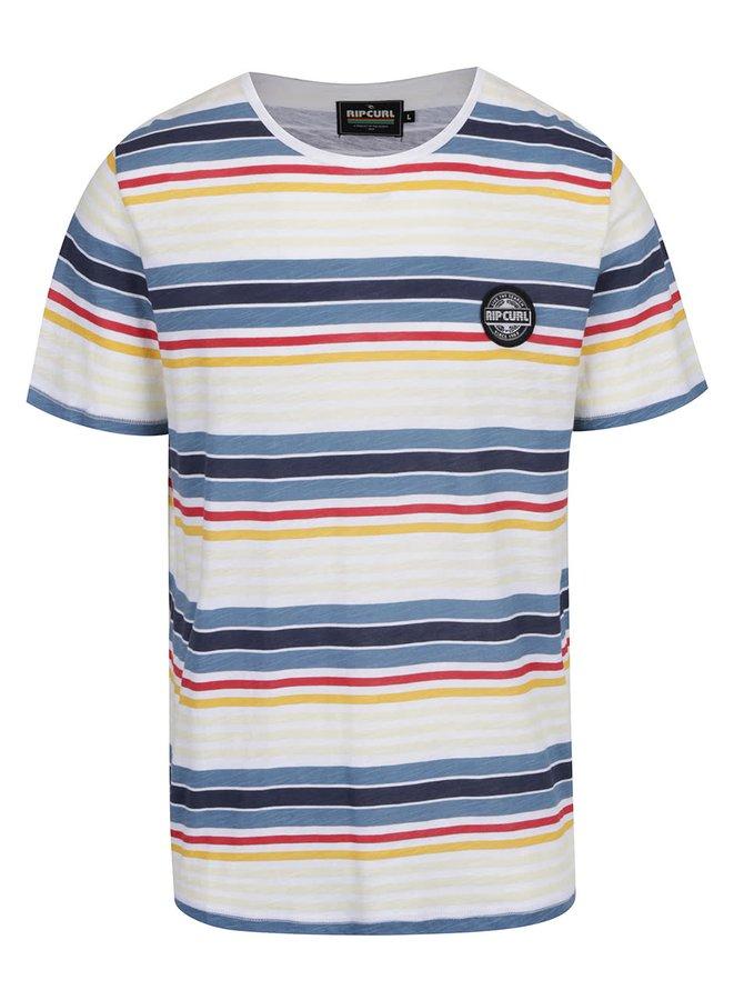 Krémové pánské triko s barevnými pruhy Rip Curl Simplicity