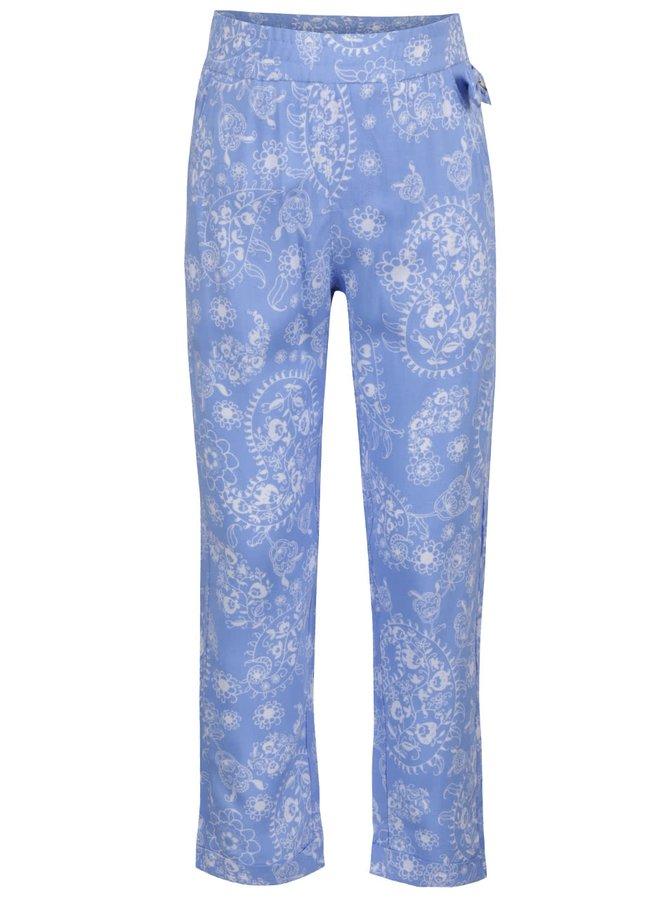 Světle modré holčičí květované kalhoty North Pole Kids