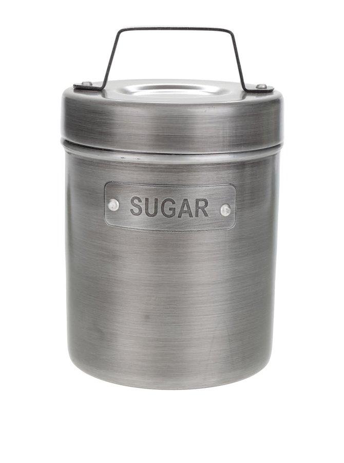 Šedá kovová retro dóza na cukr Kitchen Craft