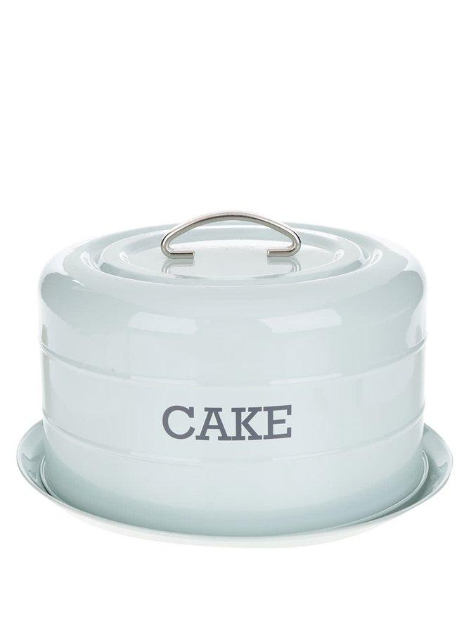 Světle zelená plechová dóza na dort Kitchen Craft