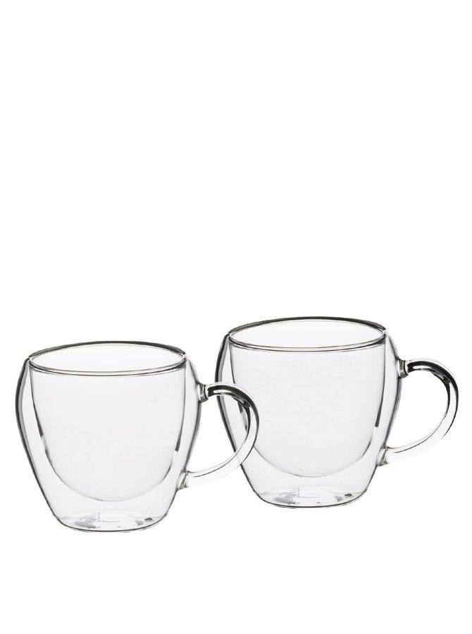Sada dvou skleněných čajových šálků Kitchen Craft