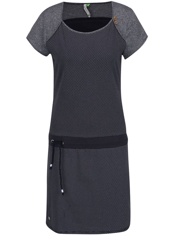 Tmavě modré puntíkované šaty Ragwear Mike
