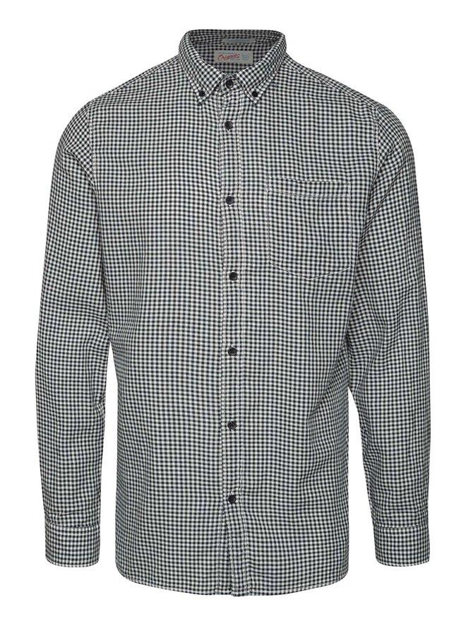 Černo-bílá kostkovaná košile Jack & Jones Johan