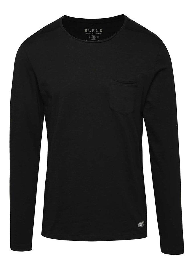 Černé triko s dlouhým rukávem Blend
