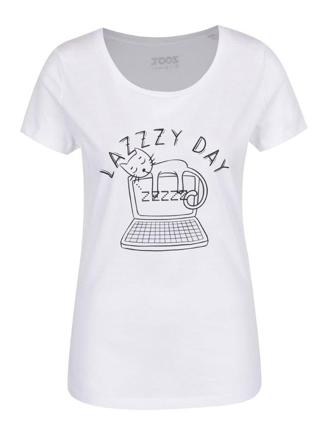 Bílé dámské triko ZOOT Originál Lazy day