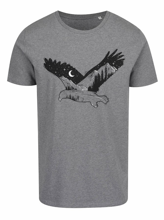 Šedé pánské triko ZOOT Originál Eagle