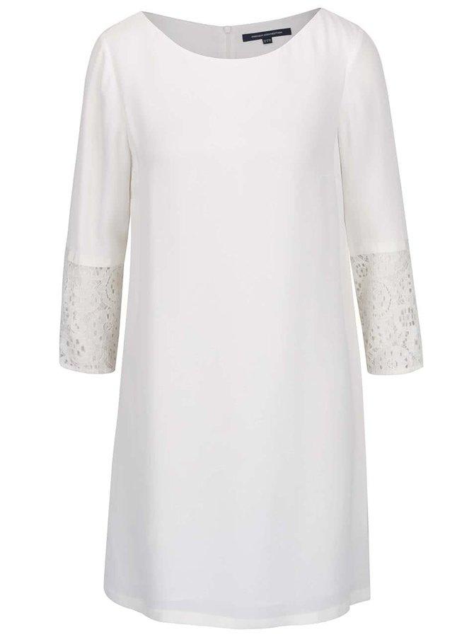 Krémové šaty s krajkovými detaily French Connection Ensore