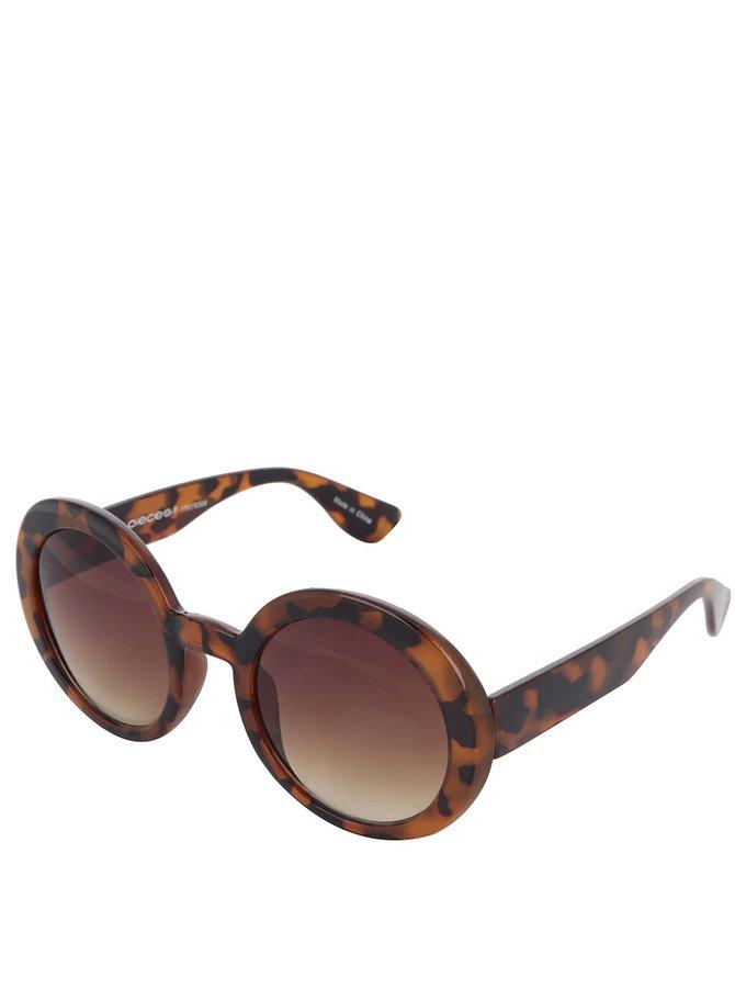 Černo-hnědé vzorované sluneční brýle Pieces Lolo