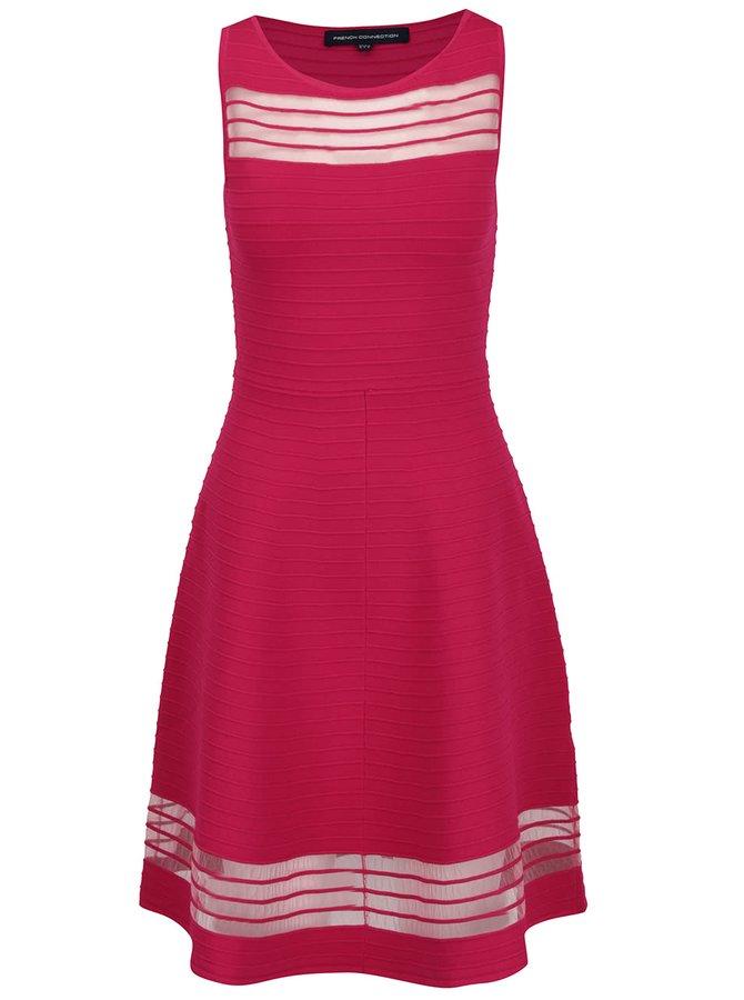 Tmavě růžové šaty French Connection Tobey