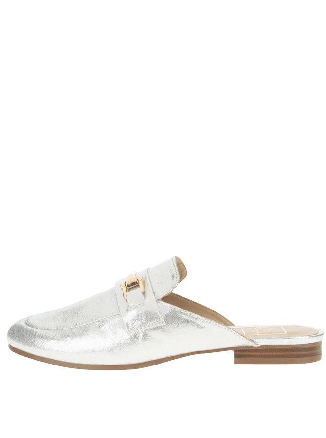 Pantofi slip on Miss Selfridge argintii