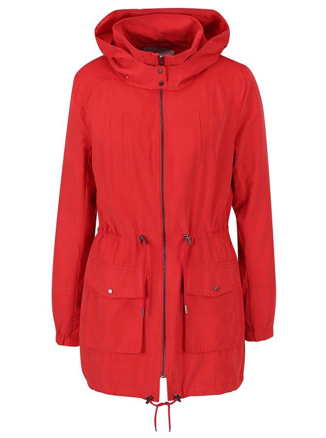 Jachetă roșie ONLY Starry cu glugă
