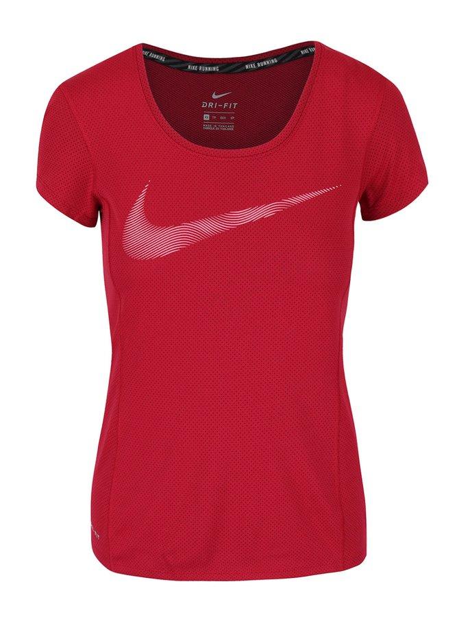 Vínové dámske funkčné tričko Nike Dry Contour