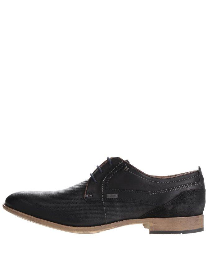 Pantofi negri din piele bugatti Gaspare-L