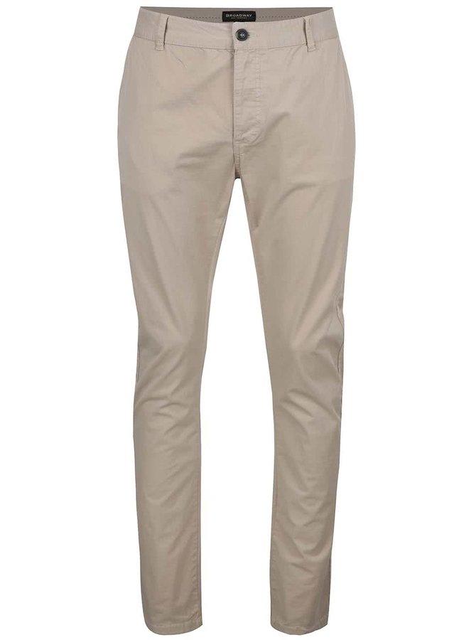 Béžové pánské chino kalhoty Broadway Wayne