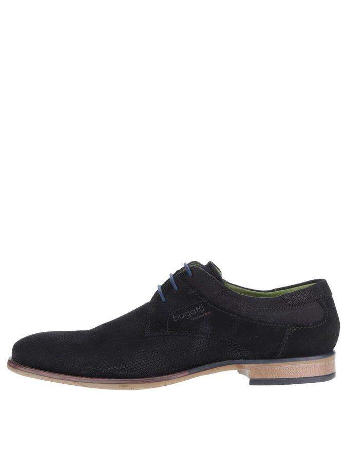 Pantofi negri bugatti Bianco din piele întoarsă