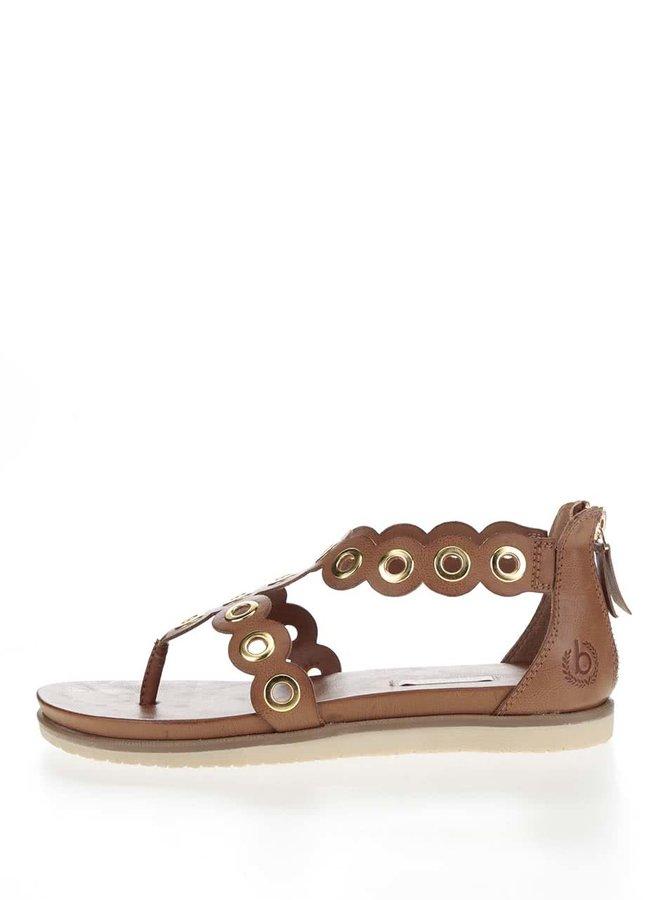 Hnědé dámské sandály bugatti Jodie
