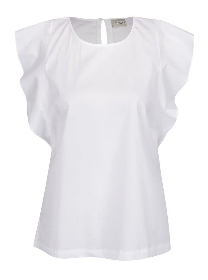 Bluză albă Selected Femme Palma cu volane decorative
