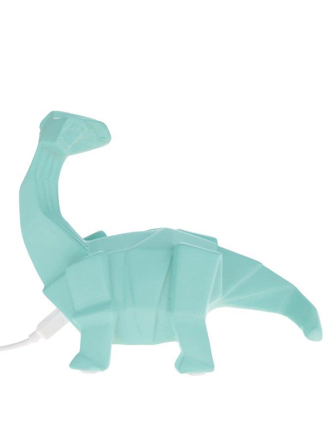 Tyrkysová LED lampa ve tvaru dinosaura Disaster