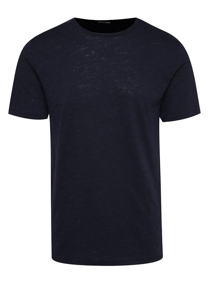 Tricou bleumarin ONLY & SONS Albert din bumbac