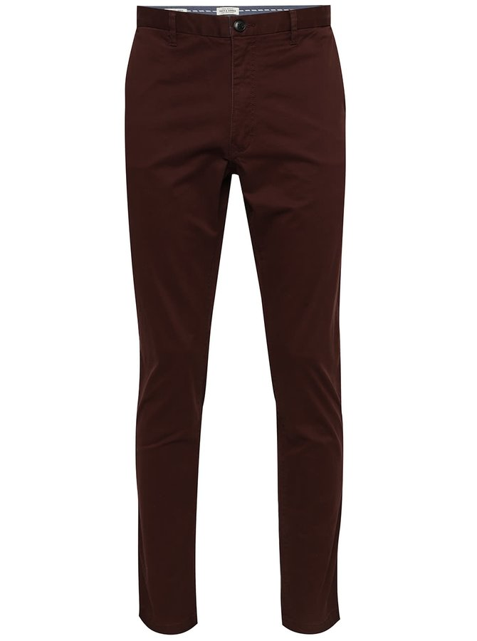 Pantaloni chino burgundy Jack & Jones Marco