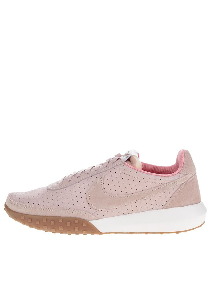 Růžové dámské tenisky se semišovými detaily Nike Roshe